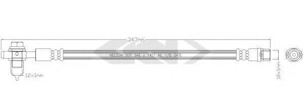 SPIDAN 338935 Тормозной шланг