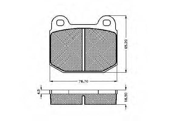 SPIDAN 30074 Комплект тормозных колодок, дисковый тормоз