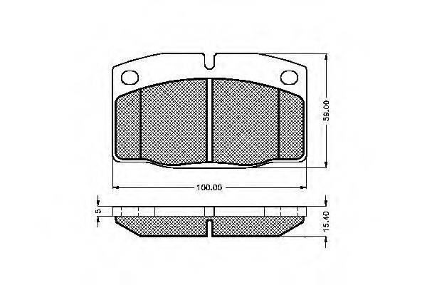 SPIDAN 31249 Комплект тормозных колодок, дисковый тормоз