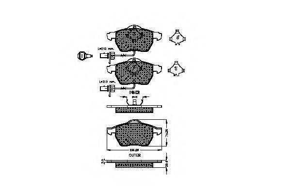 SPIDAN 32370 Комплект тормозных колодок, дисковый тормоз