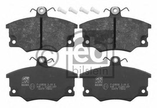 FEBI BILSTEIN 16079 Комплект тормозных колодок, дисковый тормоз