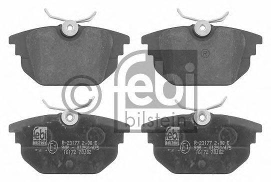 FEBI BILSTEIN 16172 Комплект тормозных колодок, дисковый тормоз
