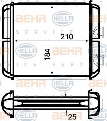 BEHR HELLA SERVICE 8FH351024271 Теплообменник, отопление салона