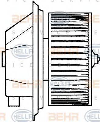 BEHR HELLA SERVICE 8EW351039351 Вентилятор салона