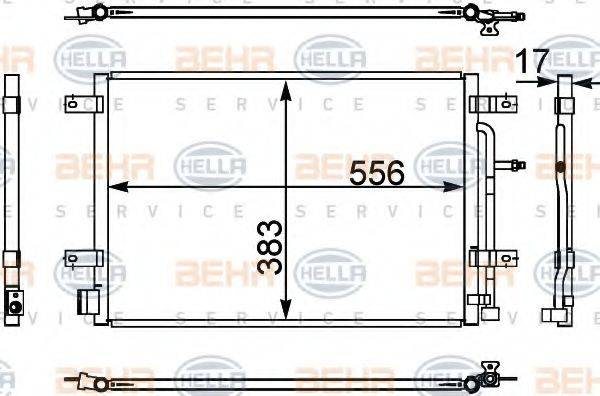 BEHR HELLA SERVICE 8FC351302441 Конденсатор, кондиционер