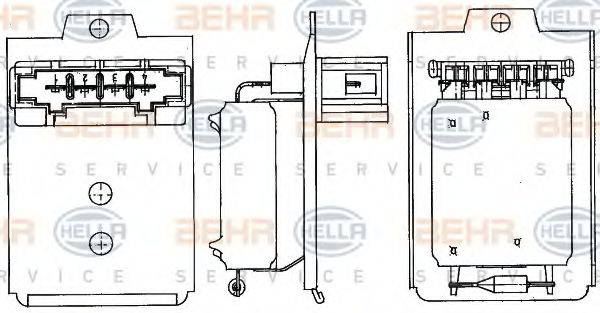 BEHR HELLA SERVICE 9ML351303261 Сопротивление, вентилятор салона