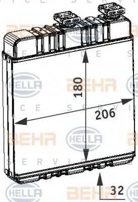 BEHR HELLA SERVICE 8FH351311141 Теплообменник, отопление салона
