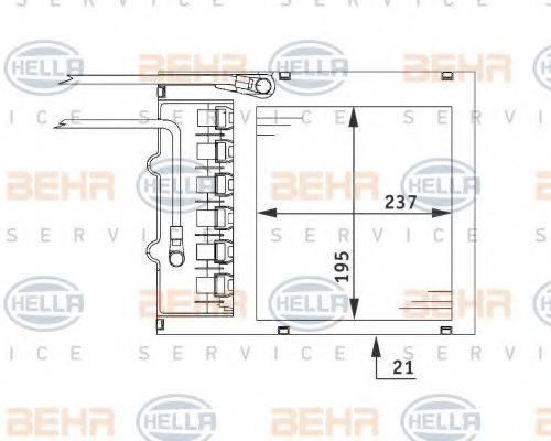 BEHR HELLA SERVICE 8FH351311151 Теплообменник, отопление салона