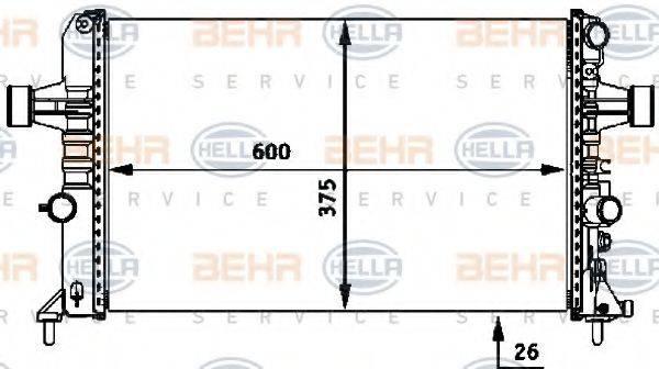 BEHR HELLA SERVICE 8MK376718331 Радиатор, охлаждение двигателя