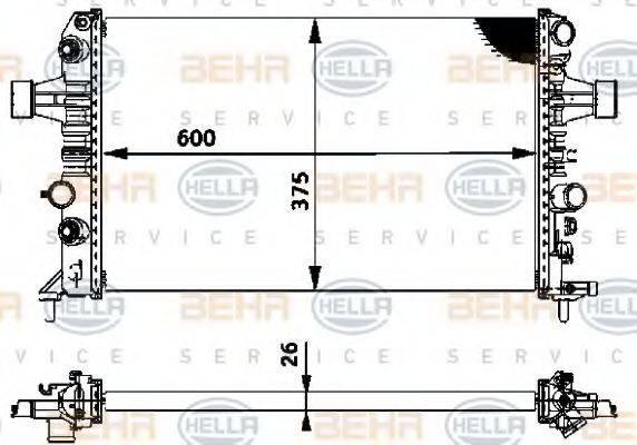 BEHR HELLA SERVICE 8MK376719061 Радиатор, охлаждение двигателя