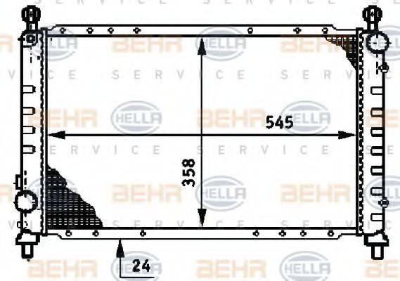 BEHR HELLA SERVICE 8MK376720131 Радиатор, охлаждение двигателя