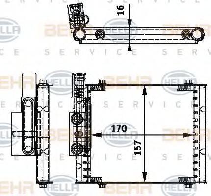 BEHR HELLA SERVICE 8MO376726231 Масляный радиатор, автоматическая коробка передач