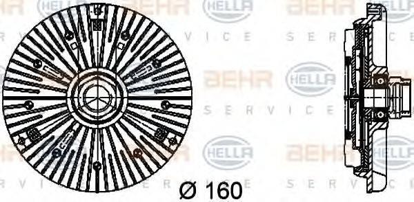 BEHR HELLA SERVICE 8MV376734451 Сцепление, вентилятор радиатора