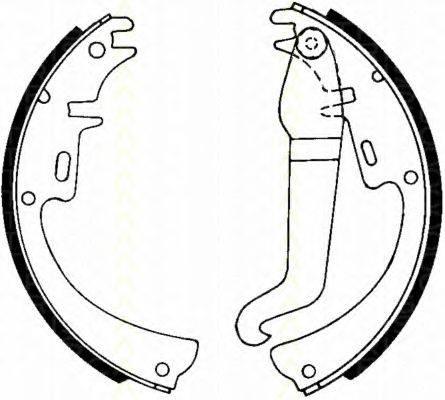 TRISCAN 810024227 Комплект тормозных колодок