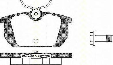 TRISCAN 811010984 Комплект тормозных колодок, дисковый тормоз