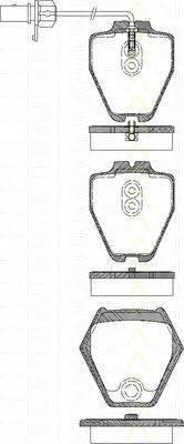 TRISCAN 811029045 Комплект тормозных колодок, дисковый тормоз
