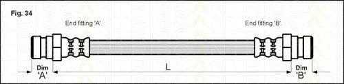TRISCAN 815015204 Тормозной шланг