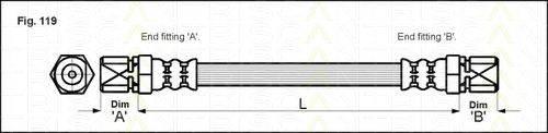 TRISCAN 815024108 Тормозной шланг