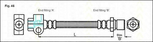 TRISCAN 815024205 Тормозной шланг