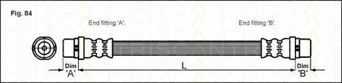 TRISCAN 815029124 Тормозной шланг