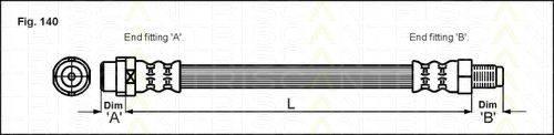 TRISCAN 815029218 Тормозной шланг