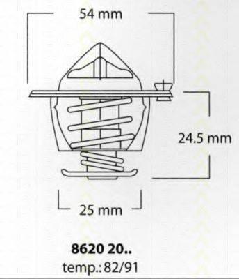 TRISCAN 86202091 Термостат, охлаждающая жидкость