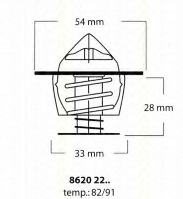 TRISCAN 86202282 Термостат, охлаждающая жидкость
