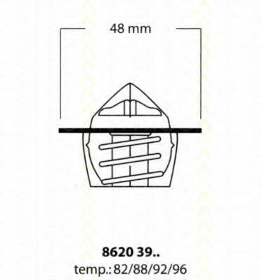 TRISCAN 86203988 Термостат, охлаждающая жидкость