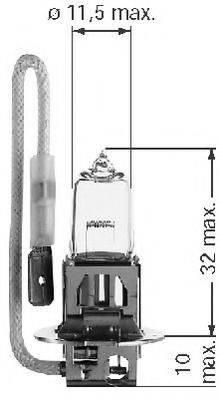 BERU 112562 Лампа накаливания, фара дальнего света; Лампа накаливания, противотуманная фара