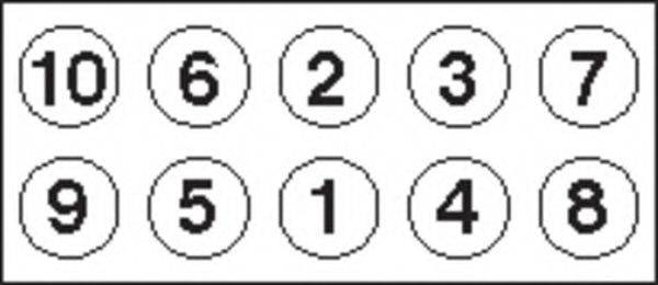 PAYEN HBS054 Комплект болтов головки цилидра