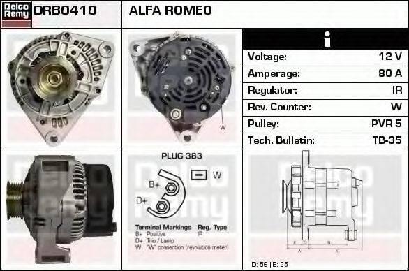 DELCO REMY DRB0410 Генератор
