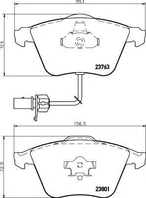 PAGID T1223 Комплект тормозных колодок, дисковый тормоз