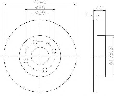 PAGID 50117 Тормозной диск