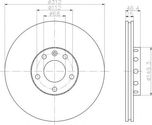 PAGID 50310 Тормозной диск