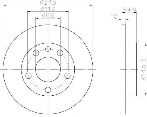 PAGID 50311 Тормозной диск