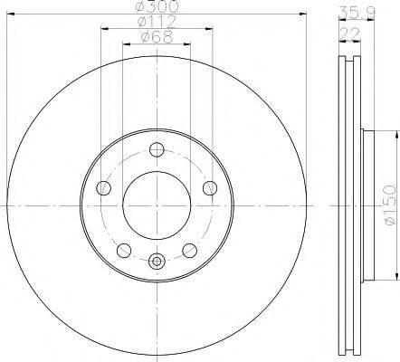 PAGID 54371 Тормозной диск