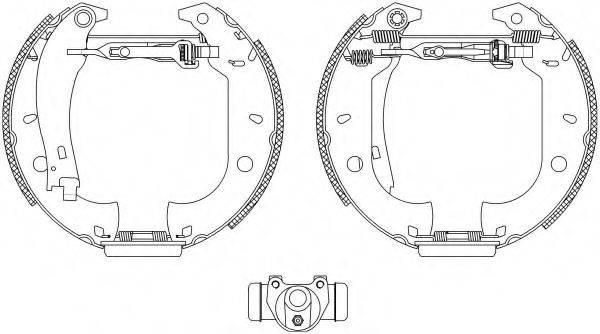 PAGID R0545 Комплект тормозных колодок