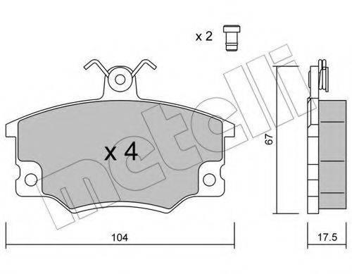 METELLI 2200301 Комплект тормозных колодок, дисковый тормоз