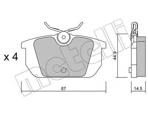 METELLI 2200640 Комплект тормозных колодок, дисковый тормоз