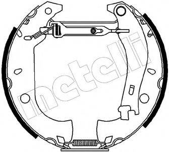 METELLI 510090 Комплект тормозных колодок