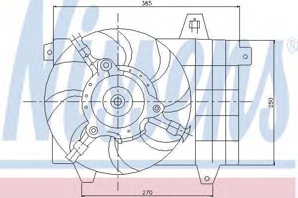 ALFA ROMEO 60590543 Вентилятор, охлаждение двигателя