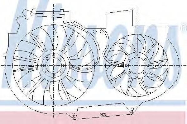 NISSENS 85247 Вентилятор, охлаждение двигателя
