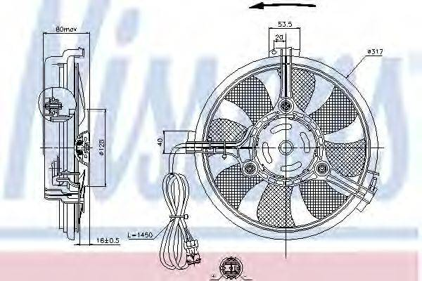 NISSENS 85519 Вентилятор, конденсатор кондиционера