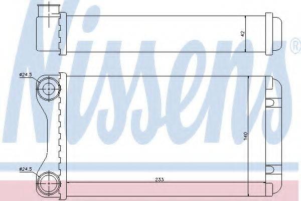 NISSENS 70226 Теплообменник, отопление салона