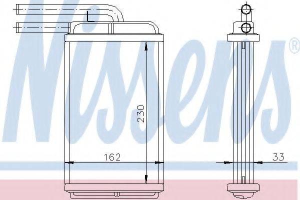 NISSENS 72654 Теплообменник, отопление салона