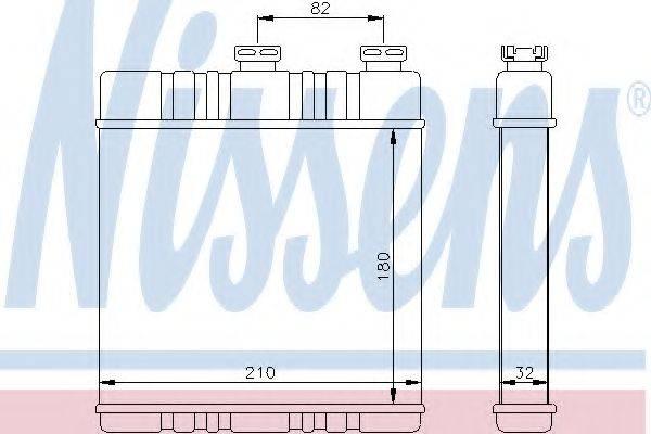 NISSENS 72660 Теплообменник, отопление салона