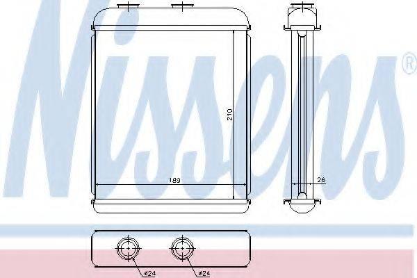 NISSENS 72662 Теплообменник, отопление салона