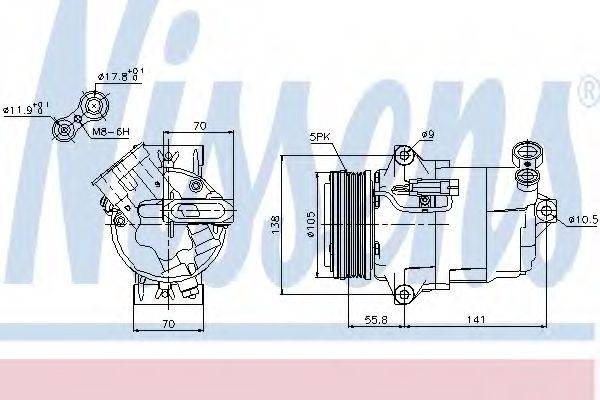 NISSENS 89038 Компрессор, кондиционер