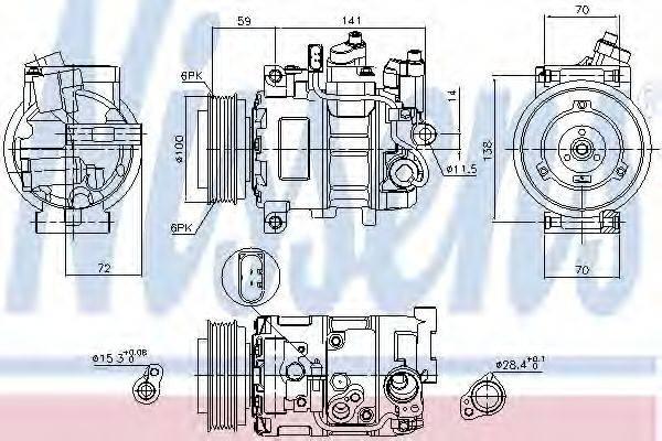 NISSENS 89052 Компрессор, кондиционер