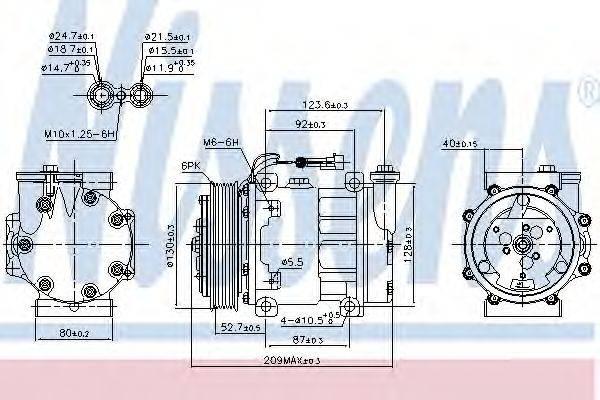 NISSENS 89120 Компрессор, кондиционер
